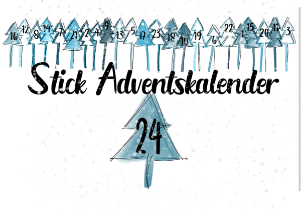 Stickdateien Adventskalender